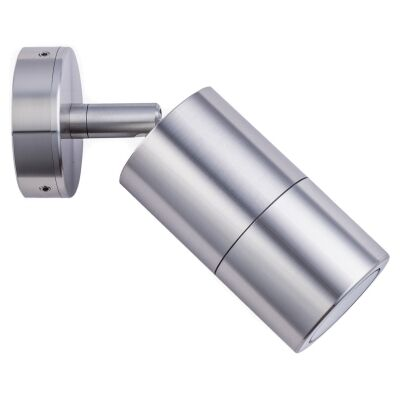 Roslin IP65 Exterior Single Adjustable Wall Light, GU10, Anodized Aluminium