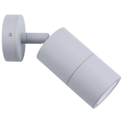 Roslin IP65 Exterior Single Adjustable Wall Light, GU10, Grey