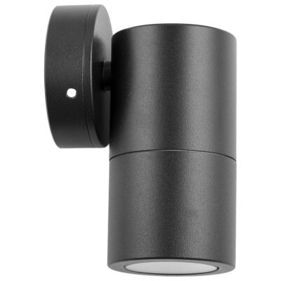 Roslin IP65 Exterior Fixed Down Wall Light, GU10, Black