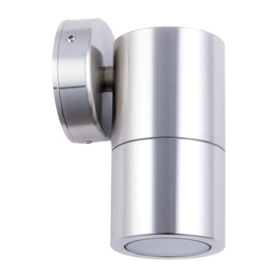 Roslin IP65 Exterior Fixed Down Wall Light, GU10, Stainless Steel