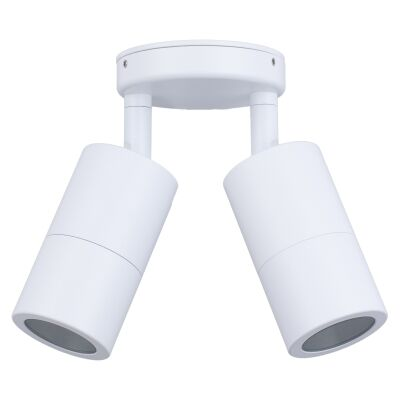 Roslin IP65 Exterior Double Adjustable Wall Light, GU10, White