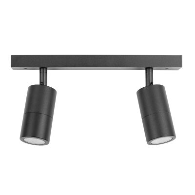 Roslin IP44 Exterior Adjustable Bar Light, 2 Light, Black