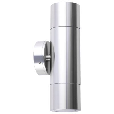 Roslin IP65 Exterior Up / Down Wall Light, GU10, Anodized Aluminium