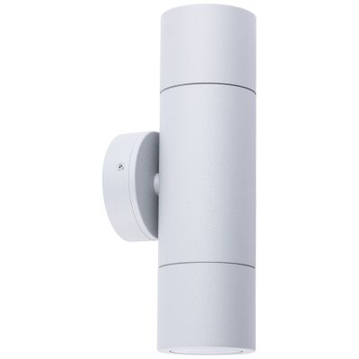 Roslin IP65 Exterior Up / Down Wall Light, GU10, Grey