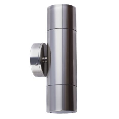 Roslin IP65 Exterior Up / Down Wall Light, GU10, Titanium
