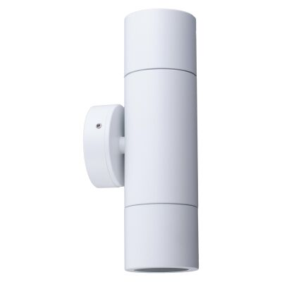 Roslin IP65 Exterior Up / Down Wall Light, GU10, White