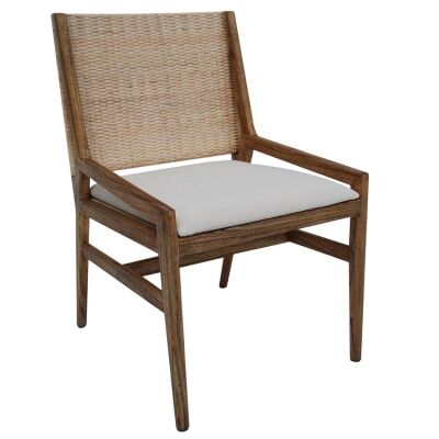 Rosehill Mindi Wood Dining Chair, Walnut