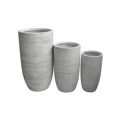 Palma 3 Piece Cement Fibre Tall Planter Set