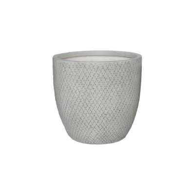 Grid Clay Pot, Medium