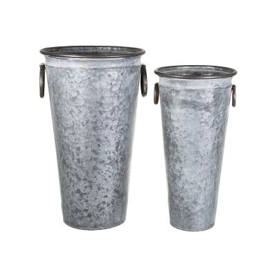 Auvergne 2 Piece Metal Bucket Pot Set