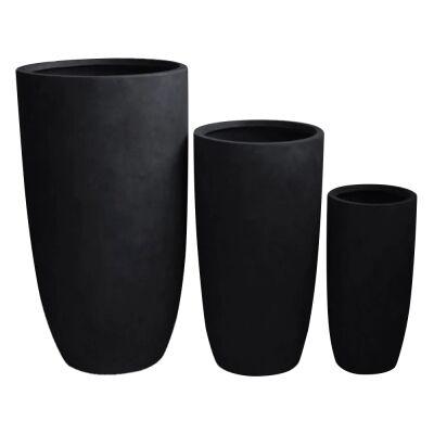 Sashe 3 Piece Planter Set, Black