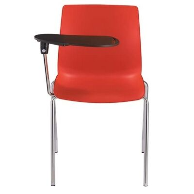 Pod Stackable Lecture Chair, 4 Leg, Red
