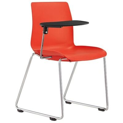 Pod Lecture Chair, Sled Leg, Red