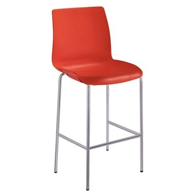 Pod Stackable Bar Stool, Red
