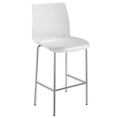 Pod Stackable Bar Stool, White