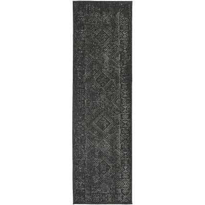 Polo Kieron Modern Runner Rug, 300x80cm, Black
