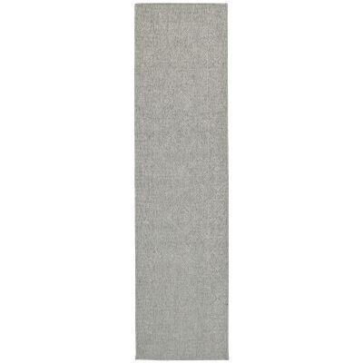 Polo Kieron Modern Runner Rug, 300x80cm, Light Grey