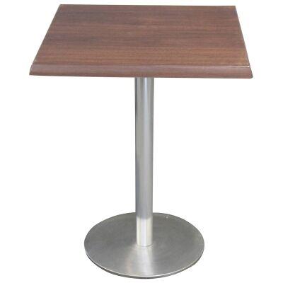 Caltana Commercial Grade Square Dining Table, 60cm, Dark Walnut