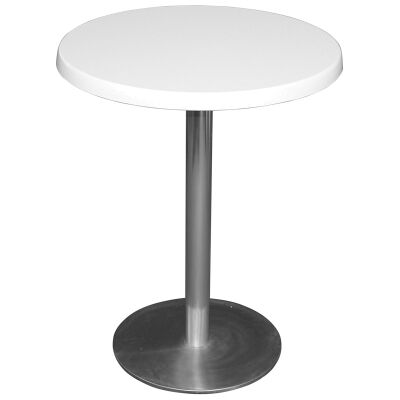 Caltana Commercial Grade Round Dining Table, 60cm, White