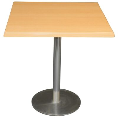 Caltana Commercial Grade Square Dining Table, 70cm, Beech