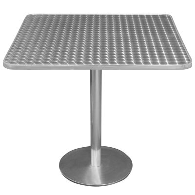 Caltana Commercial Grade Square Dining Table, 70cm, Silver