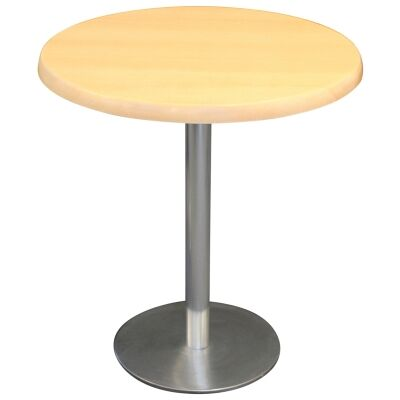 Caltana Commercial Grade Round Dining Table, 80cm, Beech