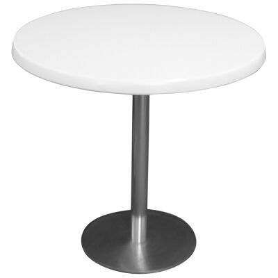 Caltana Commercial Grade Round Dining Table, 80cm, White