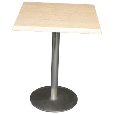Caltana Commercial Grade Square Dining Table, 80cm, Travertine