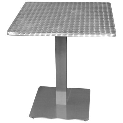 Barona Commercial Grade Square Dining Table, 70cm, Silver