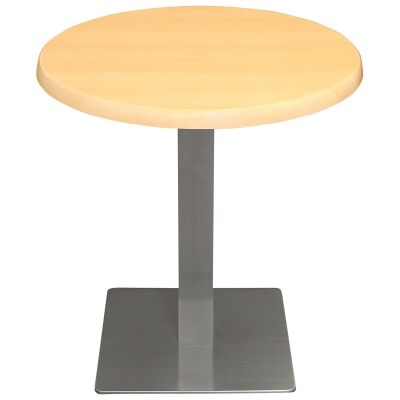Barona Commercial Grade Round Dining Table, 80cm, Beech