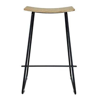 Porter Commercial Grade Steel Bar Stool, Natural / Black