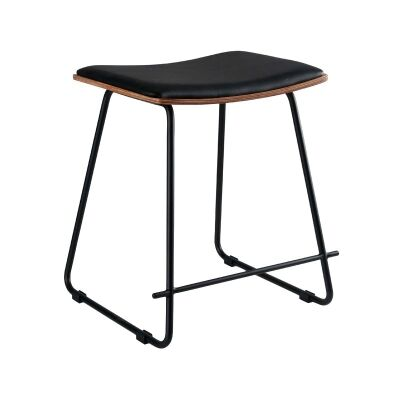 Porter Commercial Grade Steel Table Stool with PU Seat, Black