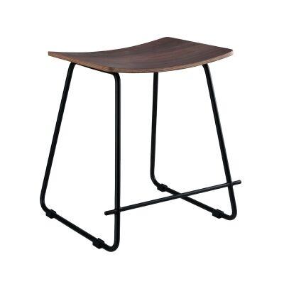 Porter Commercial Grade Steel Table Stool,  Walnut / Black