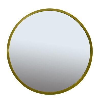 Alford Iron Frame Round Wall Mirror, 80cm