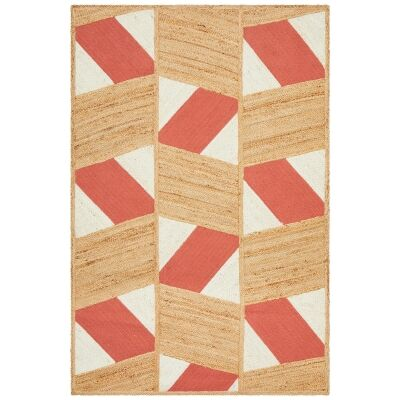 Parade Thea Hand Loomed Jute & Cotton Rug, 150x220cm