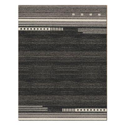 Serenity Brooke Modern Rug, 160x230cm, Black