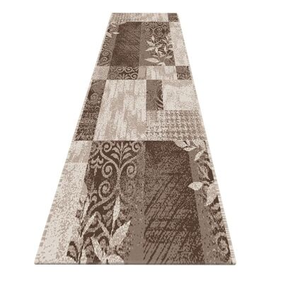 Serenity Leslie Modern Runner Rug, 80x300cm, Brown