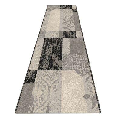 Serenity Leslie Modern Runner Rug, 80x300cm, Grey