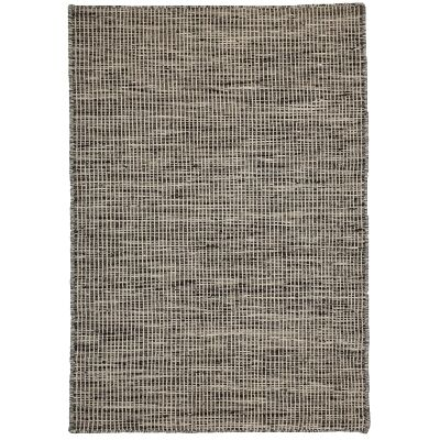 Pronto Handwoven Wool Rug, 225x155cm, Charcoal