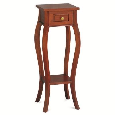 Queen Ann Solid Mahogany Timber Plant Stand, Mahogany