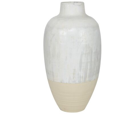Haldan Ceramic Oversized Vase, Medium
