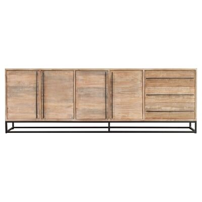 Pontons Mango Wood 4 Door 3 Drawer Sideboard, 230cm