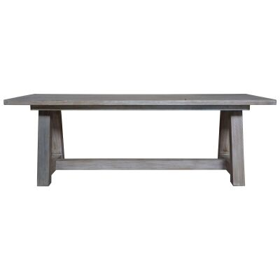 Pontons Mango Wood Trestle Dining Table, 220cm