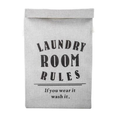 Laundry Room Rules Fabric Laundry Hamper