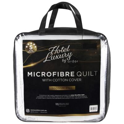 Ardor Hotel Luxury Microfibre Quilt, Super King
