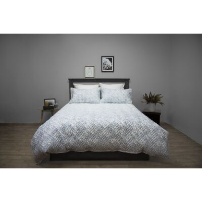 Ardor Boudoir Terrace Embossed Quilted Quilt Cover Set, Double
