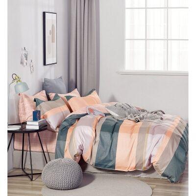 Ardor Gia 3 Piece Cotton Quilt Cover Set, Double