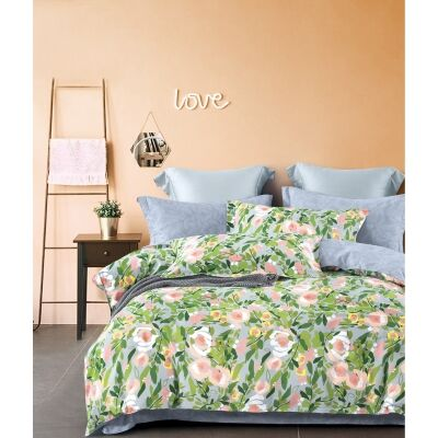 Ardor Ruby Cotton Quilt Cover Set, King
