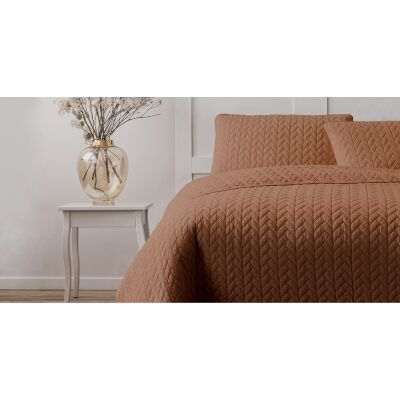 Ardor Boudoir Maya Quilted Quilt Cover Set, King, Clay