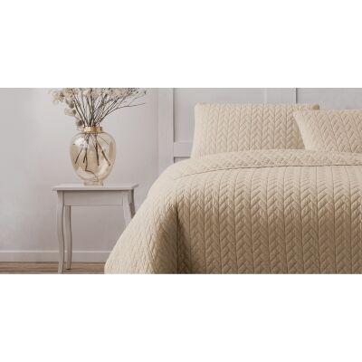 Ardor Boudoir Maya Quilted Quilt Cover Set, Single, Linen
